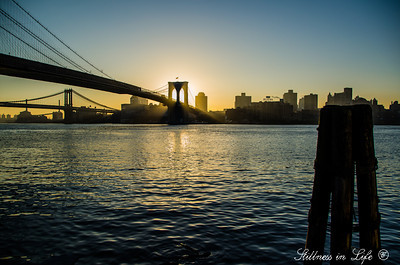An early morning start at the Brooklyn Bridge, so beautiful and serene, the calm before the storm of city life.