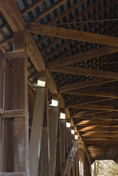 11/09:  Interior of Cox Ford covered bridge