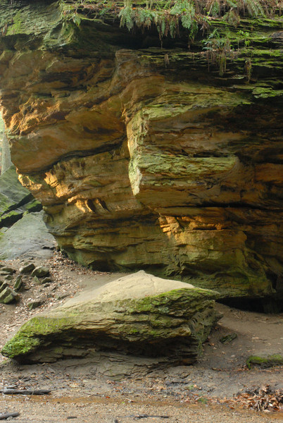 Rock formation, near the suspension bridge.