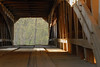 Interior view of Cox Ford covered bridge.