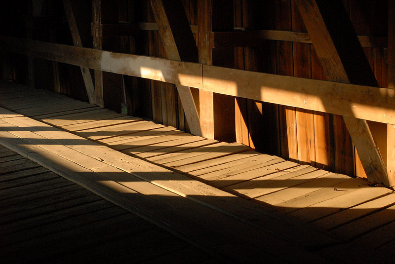 Another interior, Cox Ford covered bridge.