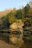 Sugar Creek, near the suspension bridge.