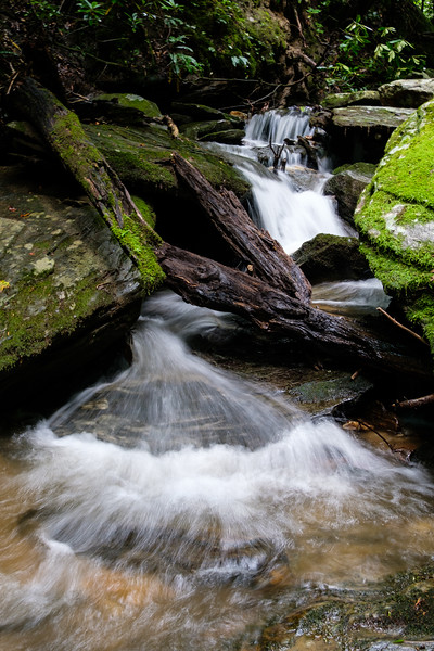 One of the small waterfalls along the Cumberland Knob trail.