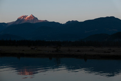 Mount Garibaldi view from the Spit Rd, Squamish