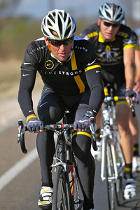 Robin Eckmann trains with Lance Armstrong.These were taken at the Trek-LIVESTRONG training camp in December 2010, held in Austin, TX.   Photo credit: Glenn Kasin.