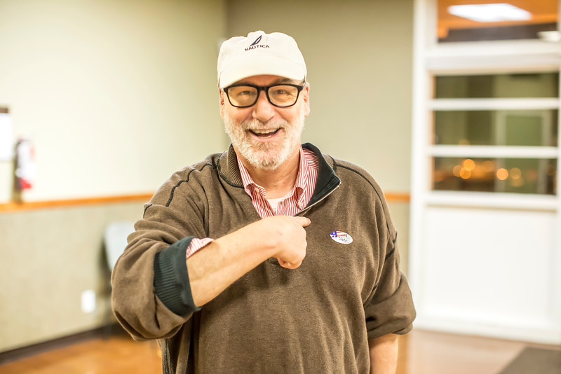 Richard Aston was the last voter of the day. From 7 a.m. to 8 p.m., more than 800 voters cast ballots at Sierra 2 Center, with hundreds stopping by to drop off pink mail-in ballots.