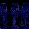 Dark Glasses in Blue