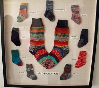Sock Prints for Gran