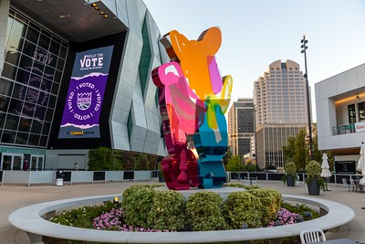 The Golden 1 Center opened for early voting at 8 a.m. on Sturday, Oct. 24, 2020.