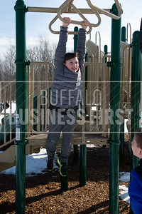 5th grader Mason Davey, 11, plays outside during recess at Ledgeview Elementary School.