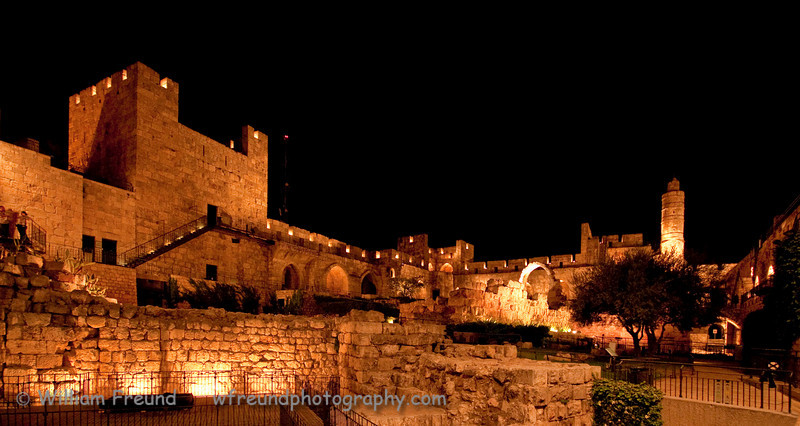 Inside David's Citadel in the Old City of Jerusalem, Israel.