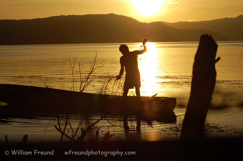 Fisherman on Lake Ilopango, El Salvador<br /> <br /> Thank you all for the wonderful and kind comments!  It really does mean a lot and continues to inspire me.