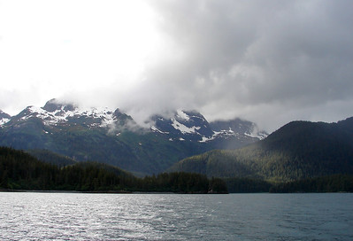 Chugach Mts. on the east side of Valdez Narrows.