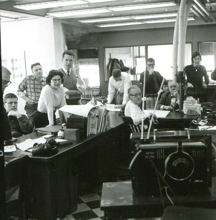 Eagle newsroom in the 1960s.