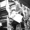 Bennington Banner pressroom, 1978.