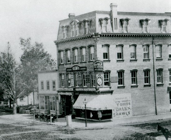 The Berkshire Eagle offices in the 1870s-1880s were at the corner of North and Fenn