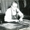 Setting type in  lead at the Bennington Banner, 1960