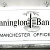 Bennington Banner sign for Manchester office, 1983