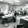 Bennington Banner newsroom, Feb., 1973