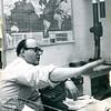 Chet Ring in the Bennington Banner newsroom, 1963.