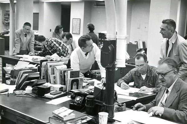 1950s newsroom on Eagle Street.