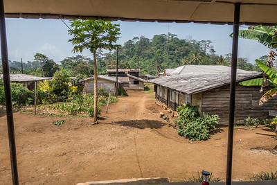 Porch view from the old WWF building. Nyasoso, Southwest Region, Cameroon Africa