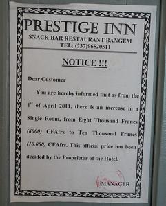 Prestige Inn. Bangem, Southwest Region, Cameroon Africa