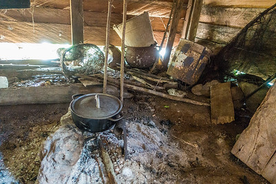 House interior. Edib, Southwest Region, Cameroon Africa