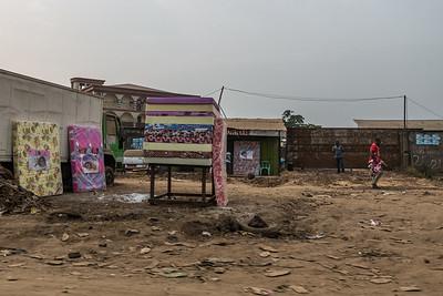 Mattress store. Bonaberi, Littoral Region, Cameroon Africa