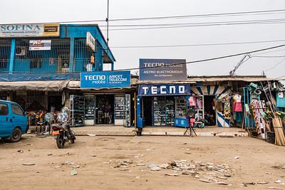 Techno electronics store. Bonaberi, Littoral Region, Cameroon Africa