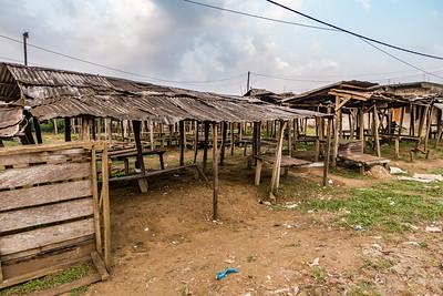 Market stalls. Nyasoso, Southwest Region, Cameroon Africa