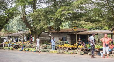 Roadside market. Penja, Southwest Region, Cameroon Africa