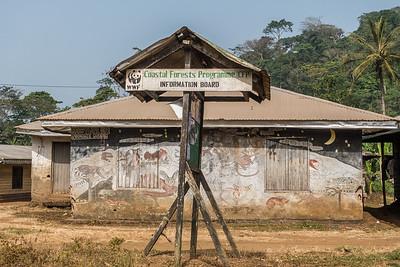WWF information board. Nyasoso, Southwest Region, Cameroon Africa
