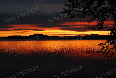 #758  A fabulous sunset over Rangeley Lake in Rangeley, Maine, world-famous for its brook trout and land-locked salmon fishing.