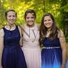 9-23-17 Olivia Spallinger, Ellie Hoffman and new girl - Freshman Homecoming