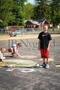 5-24-16 5th grade sidewalk chalk (Class of '23 - Erik's class)-49