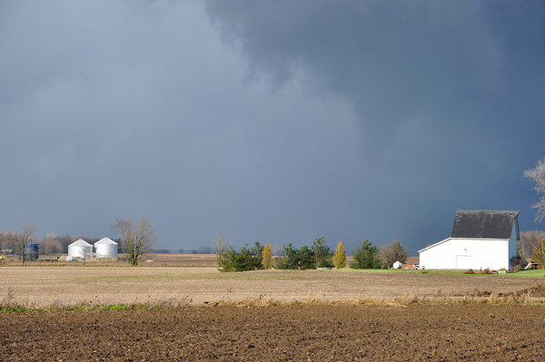 Picture of funnel cloud formation headed to Lebanon Business Park taken by stormspotter Mike Thompson.