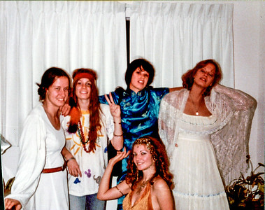 Me (Princess Leia on left) and sisters in 1980s dressed for a 1970s party!