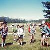 1971 Ellen: Flowered shirt on left. In Tuolumne Meadows.