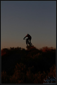 Freeride at dusk