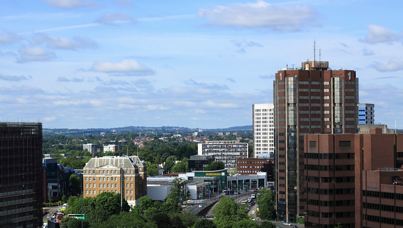 View from our hotel window in  Birmingham, England.