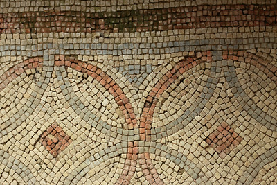 Details from the archeological site at Chedworth Roman Villa - The remains of one of the largest Romano-British villas in the United Kingdom.