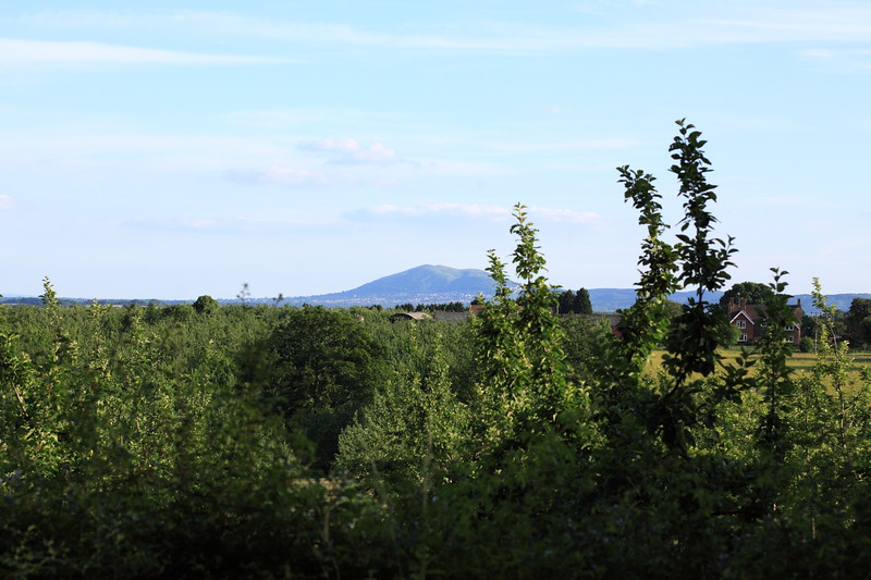 A view of the Malvern Hills from Little Witley near Worcester, England.