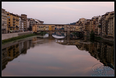 Ponte Vecchio Bridge over the Arno River in Florence, Italy