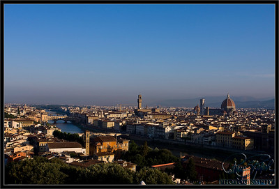 Florence, Italy and Arno River