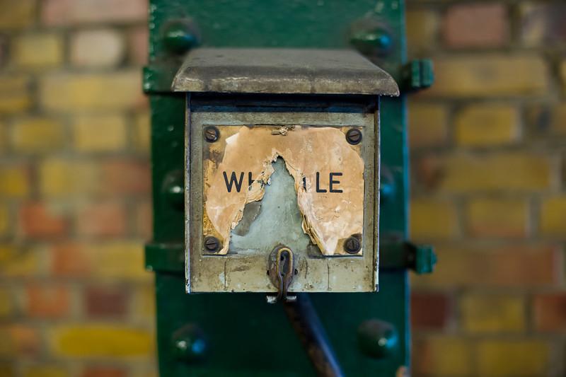 "Pneumatic whistle, District Line platform, South Kensington station.<br><span style=""font-size:75%"">©Yangchen Lin</span>"