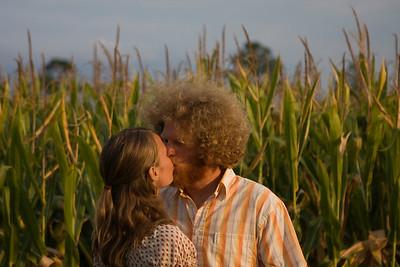 Kissing in the corn field