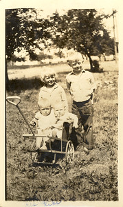 Olson Kids with Wagon - Eddy, Verdella, Ardith