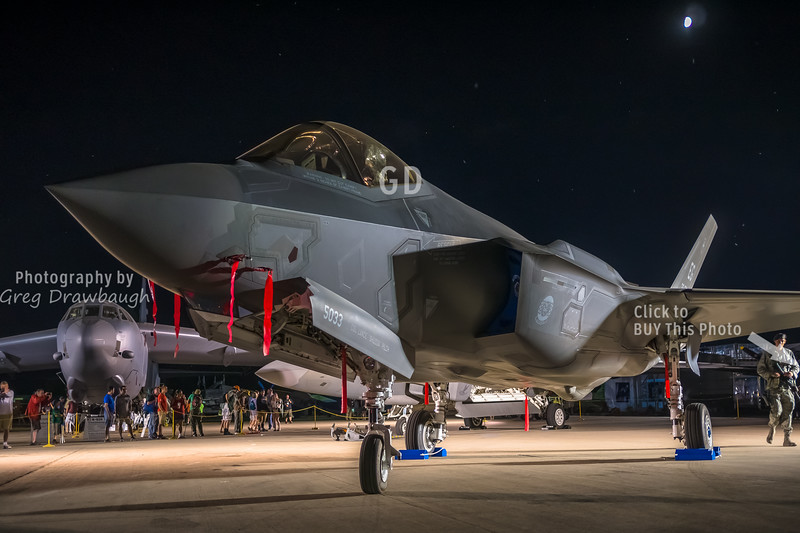 F-35 under the Moon