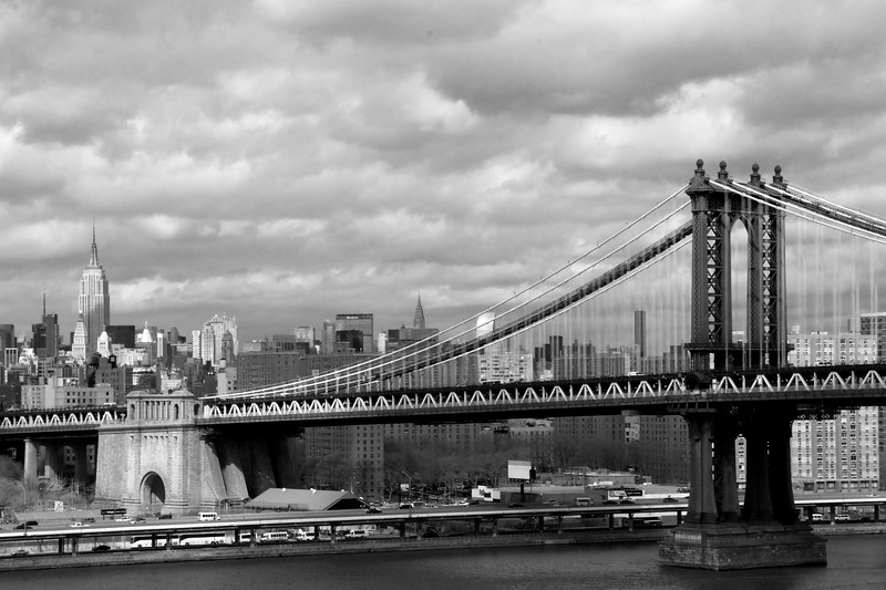 Day 191 -A nice day for a walk across the Brookly Bridge, which always makes for a good picture of the Manhattan Bridge.